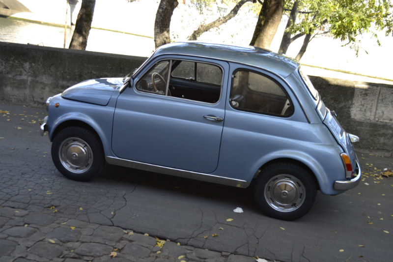 Fiat 500 my car bleu métal 1970