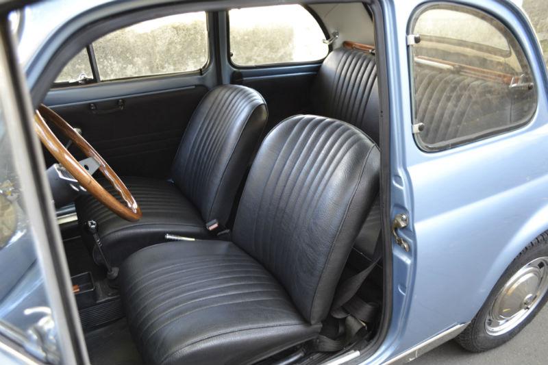 Fiat 500 Mycar bleu métal 1970