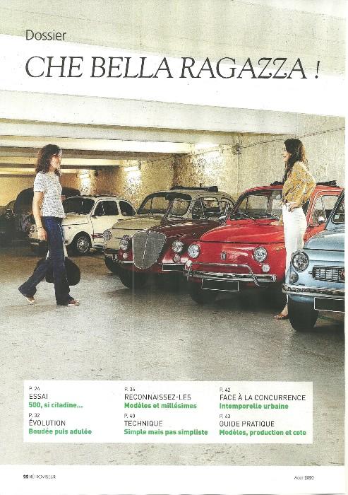 Essai de notre FIAT 500 L rouge de 1971