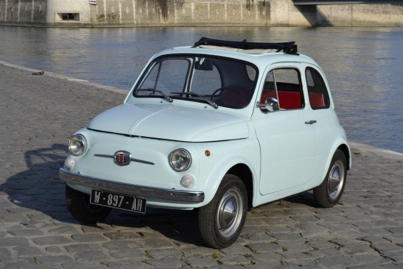 Fiat 500 R vintage Paris