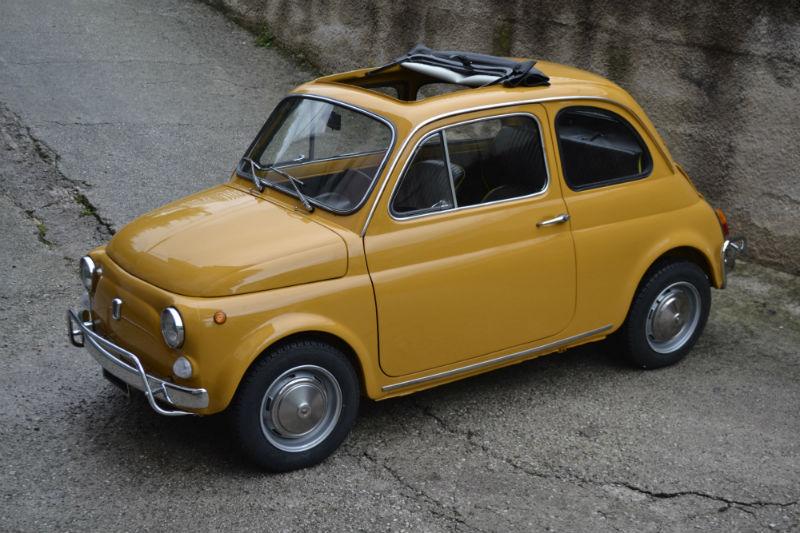 FIAT 500 L jaune Positano 1971