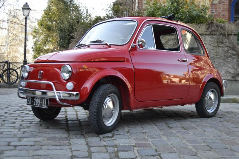 FIAT 500 vintage rouge 1968