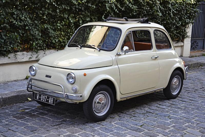 Fiat 500 L ivoire 1971
