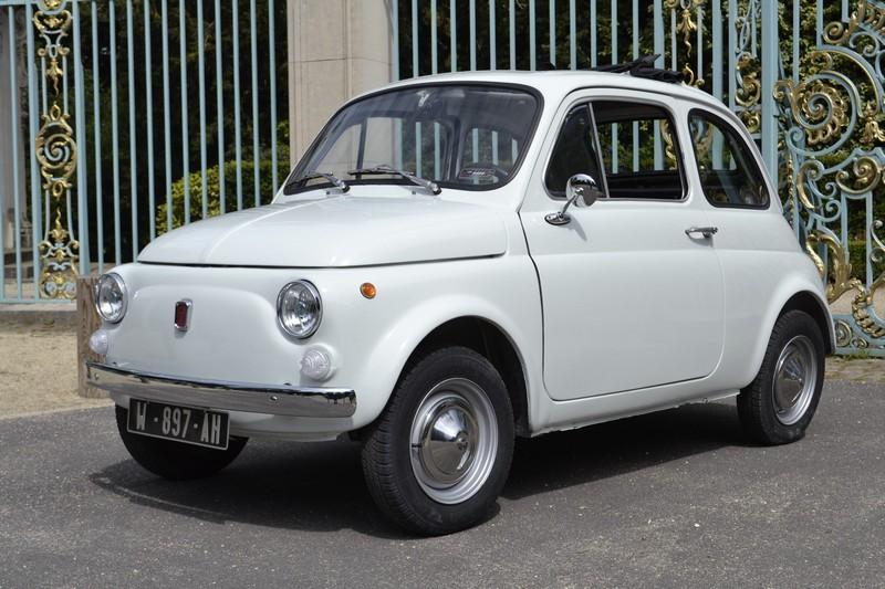 Fiat 500 F blanche ancienne 1968
