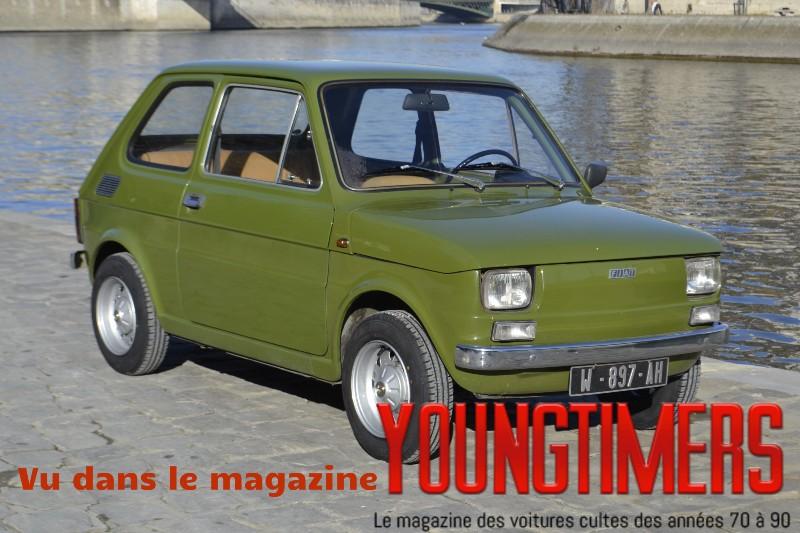 Fiat 126 verde prato vintage