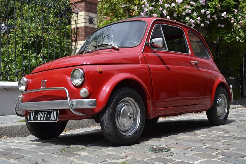 Fiat 500 L rouge ancienne restaurée