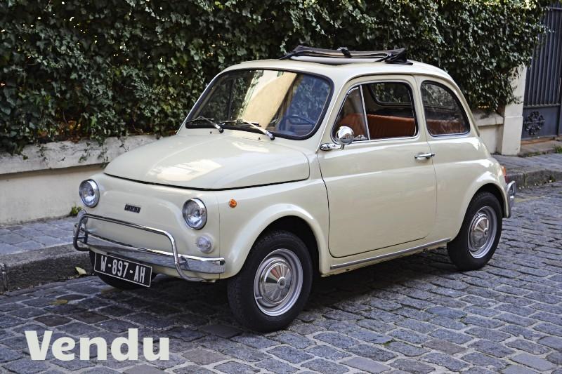 Fiat 500 L 1971 ivoire