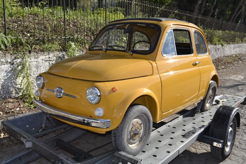 FIAT 500 F jaune Positano restaurée